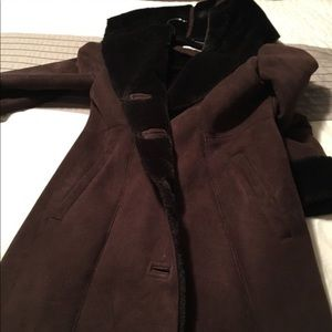 Long Calvin Klein dress coat